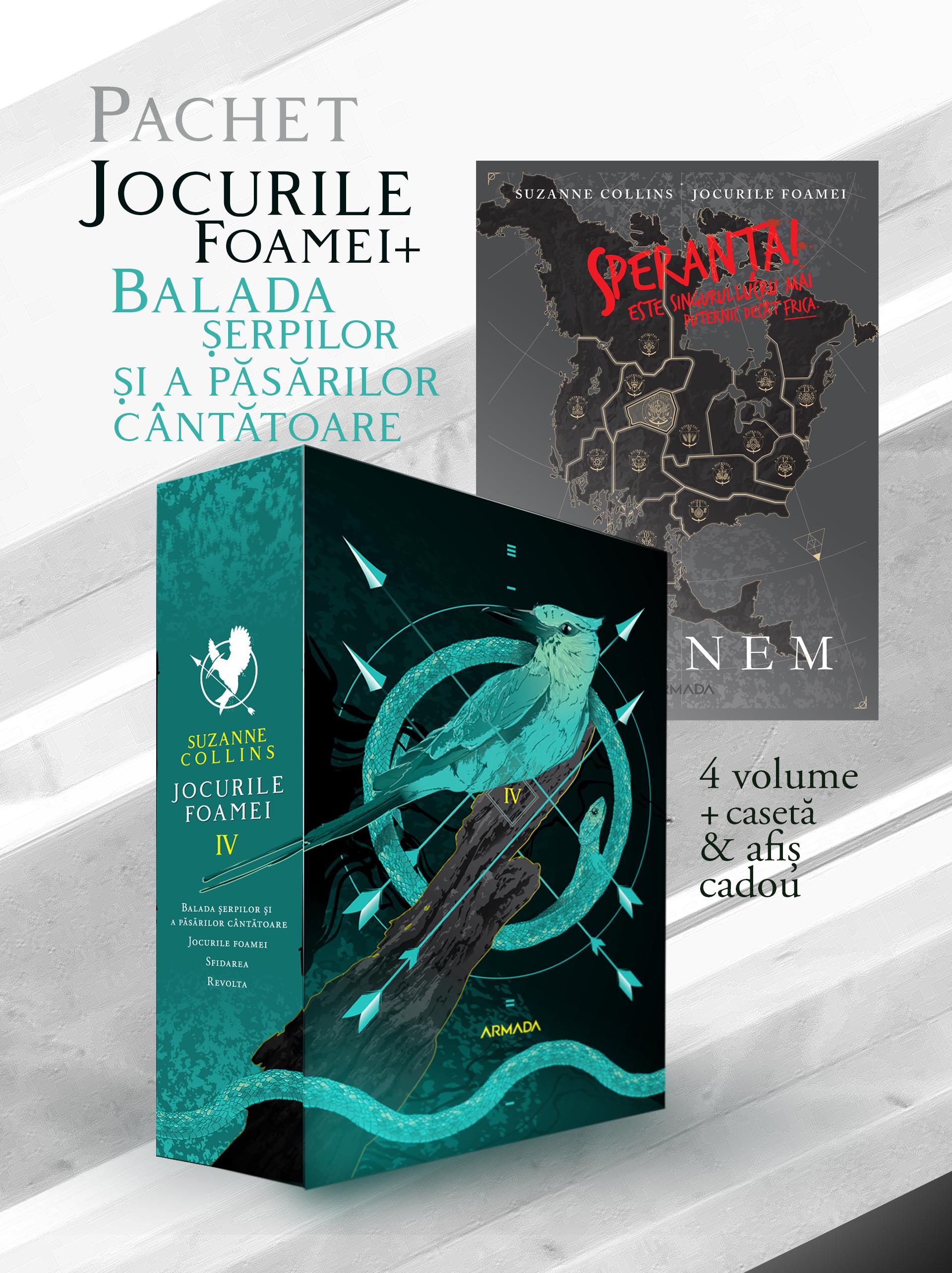 Pachet Jocurile Foamei 3 vol. + Balada șerpilor și a păsărilor cântătoare