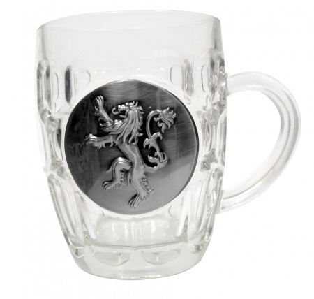Cana Vin Lannister Transparenta Cu Blazon Metalic - Game Of Thrones