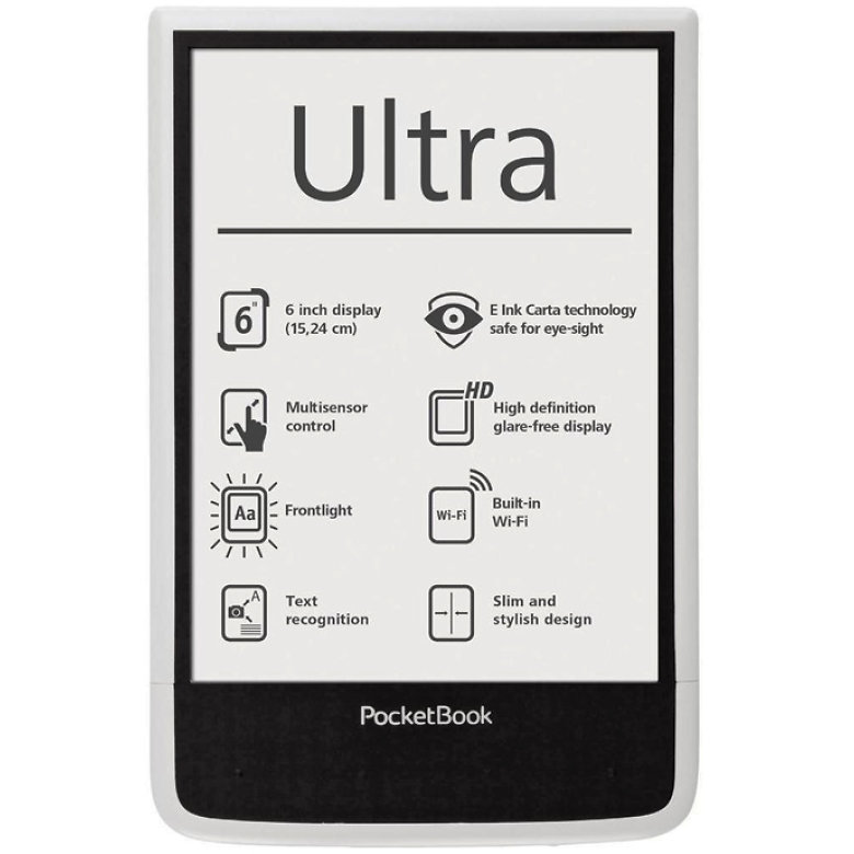 Ebook Reader Pocketbook Ultra Pb650-w-ww 4 Gb White