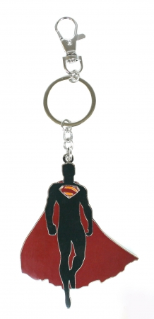 Superman Breloc Metalic Silueta Man Of Steel