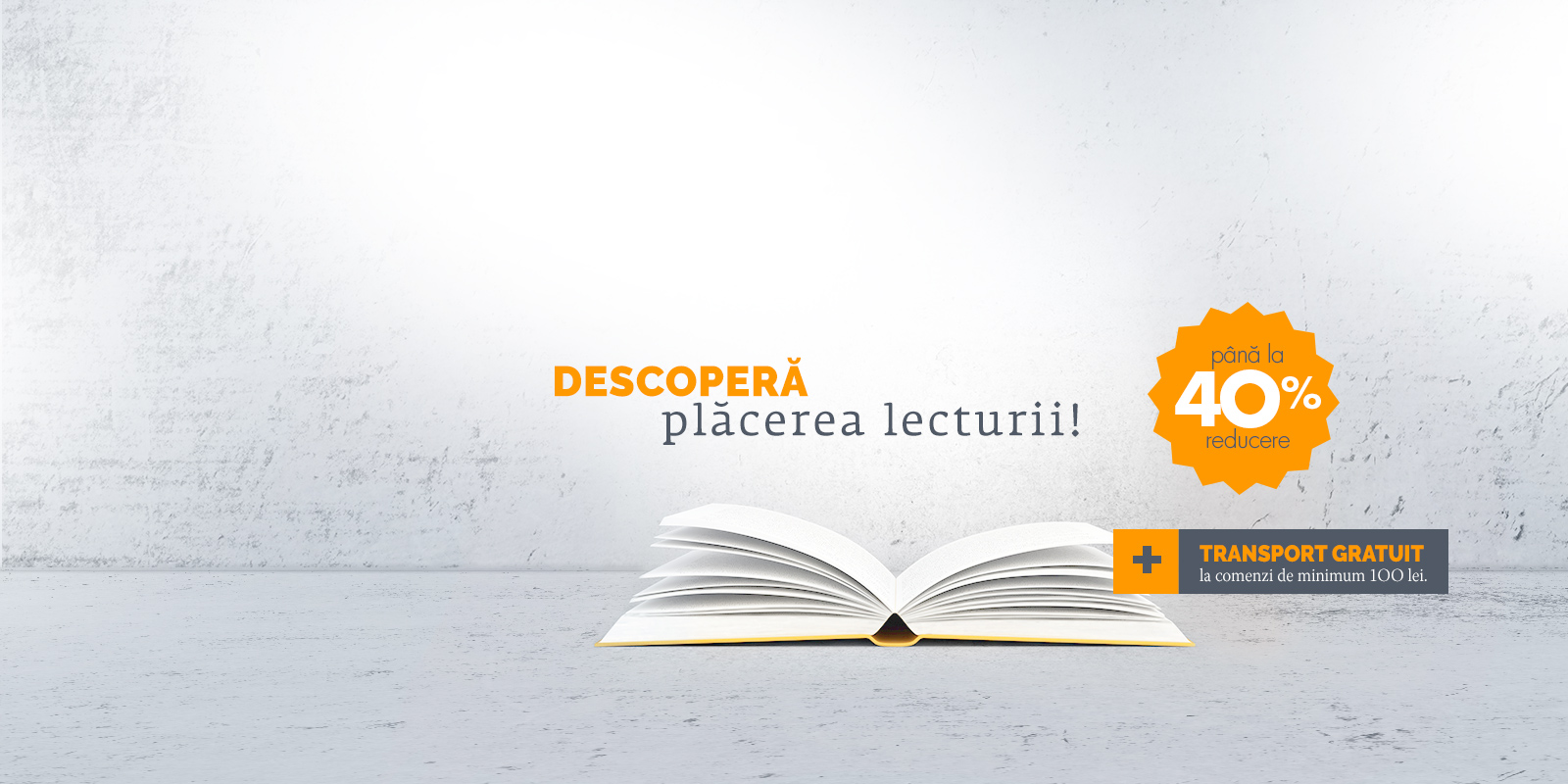 Descopera placerea lecturii